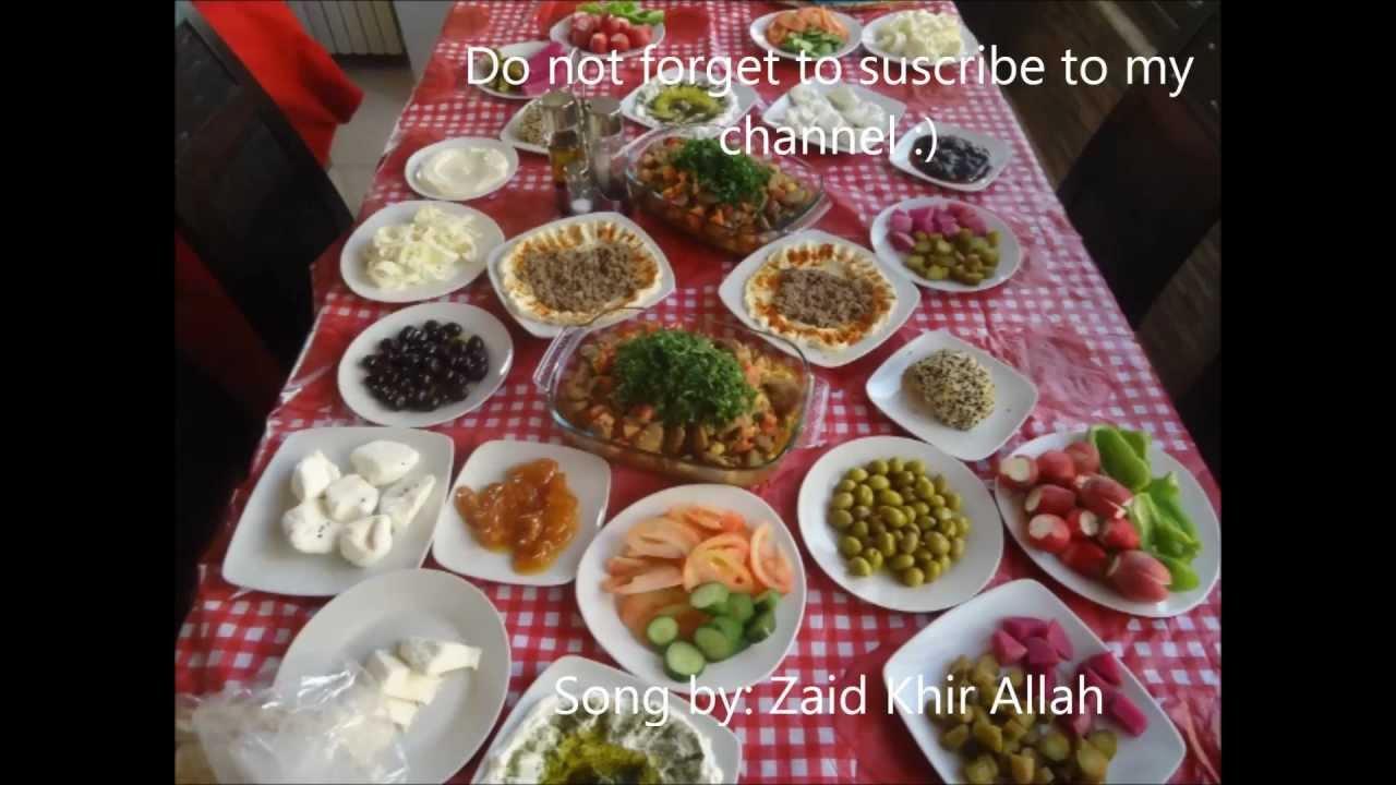 Syrian Breakfast فطور سوري Youtube