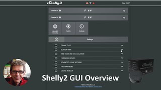 Shelly2 GUI overview and API control using POSTMAN