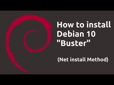 """How to install Debian 10 """"Buster"""" (Net Install Method) Installation Walkthrough"""