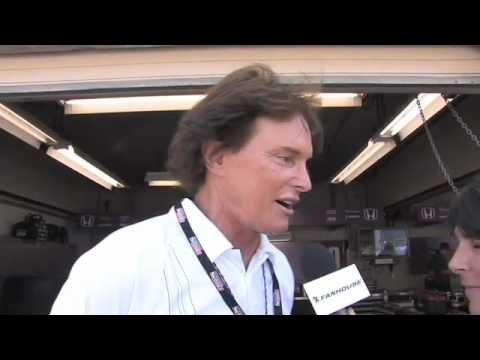 Holly with Bruce Jenner at Indy 2.mov