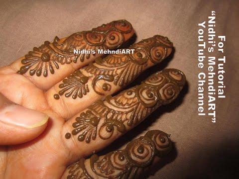 Mehndi Fingers Rating : Easy arabic fingers henna mehndi design tutorial youtube