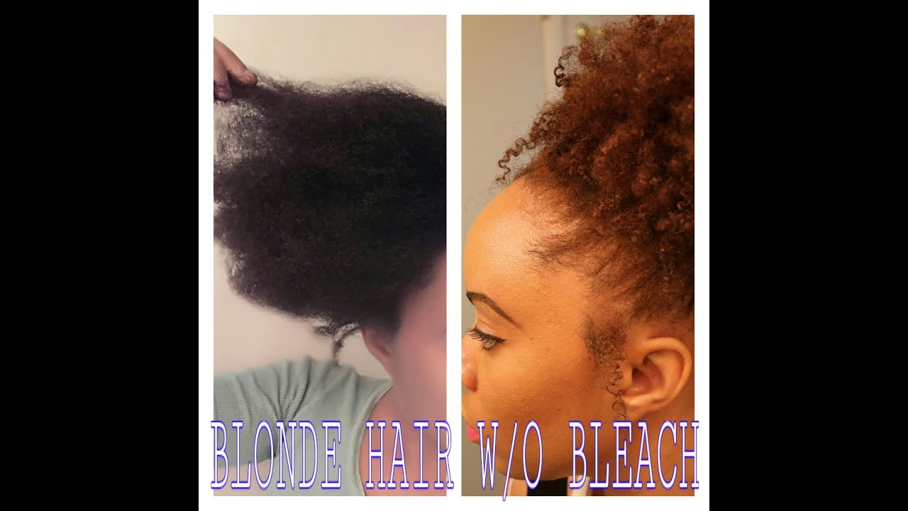 Dying Natural Hair Blonde W O Bleach Tutorial L Oreal