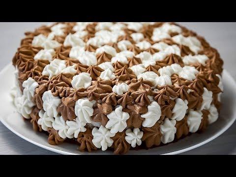 Нереально Вкусный Домашний, Шоколадный торт с варёной сгущенкой и орехами