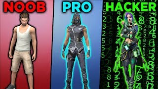 Gambar cover NOOB vs PRO vs HACKER - FREE FIRE | Kurko