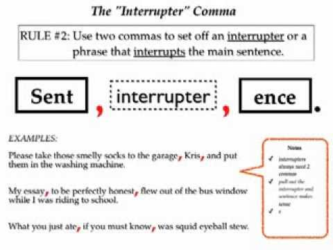4 Big Comma Rules - YouTube - comma and and