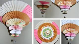 Make Hanging Paper Fan Medallions