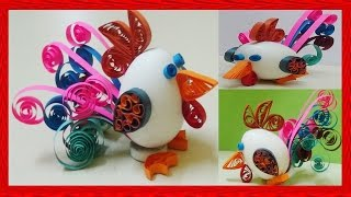 Paper Quilling :  Quilled easter Egg