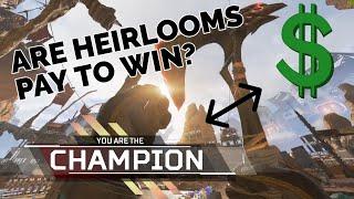 ARE HEIRLOOM WEAPONS PAY TO WIN?   Apex Legends Heirloom Breakdown