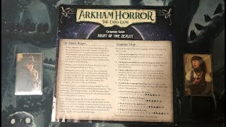 Arkham Horror The Card Game 101: Playthrough  and Tutorial (The Gathering)
