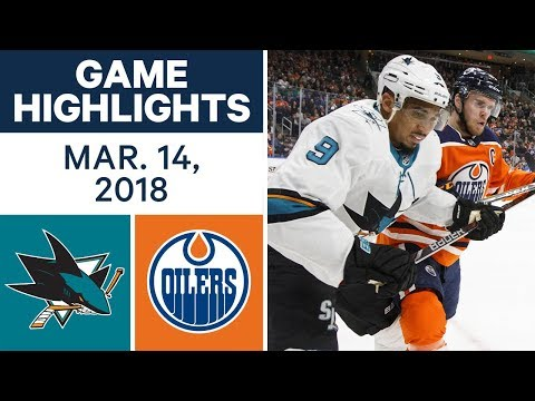 NHL Game Highlights | Sharks vs. Oilers - Mar. 14, 2018