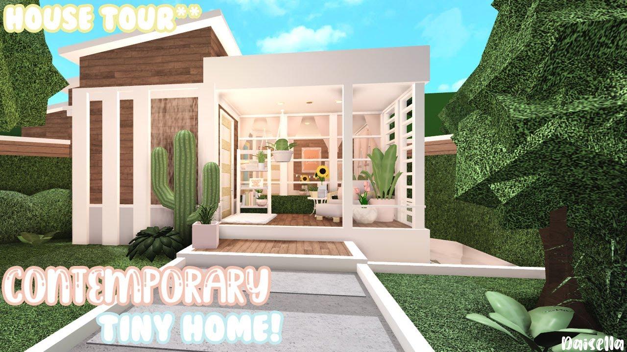Modern Contemporary Styled tiny home Bloxburg Tour YouTube