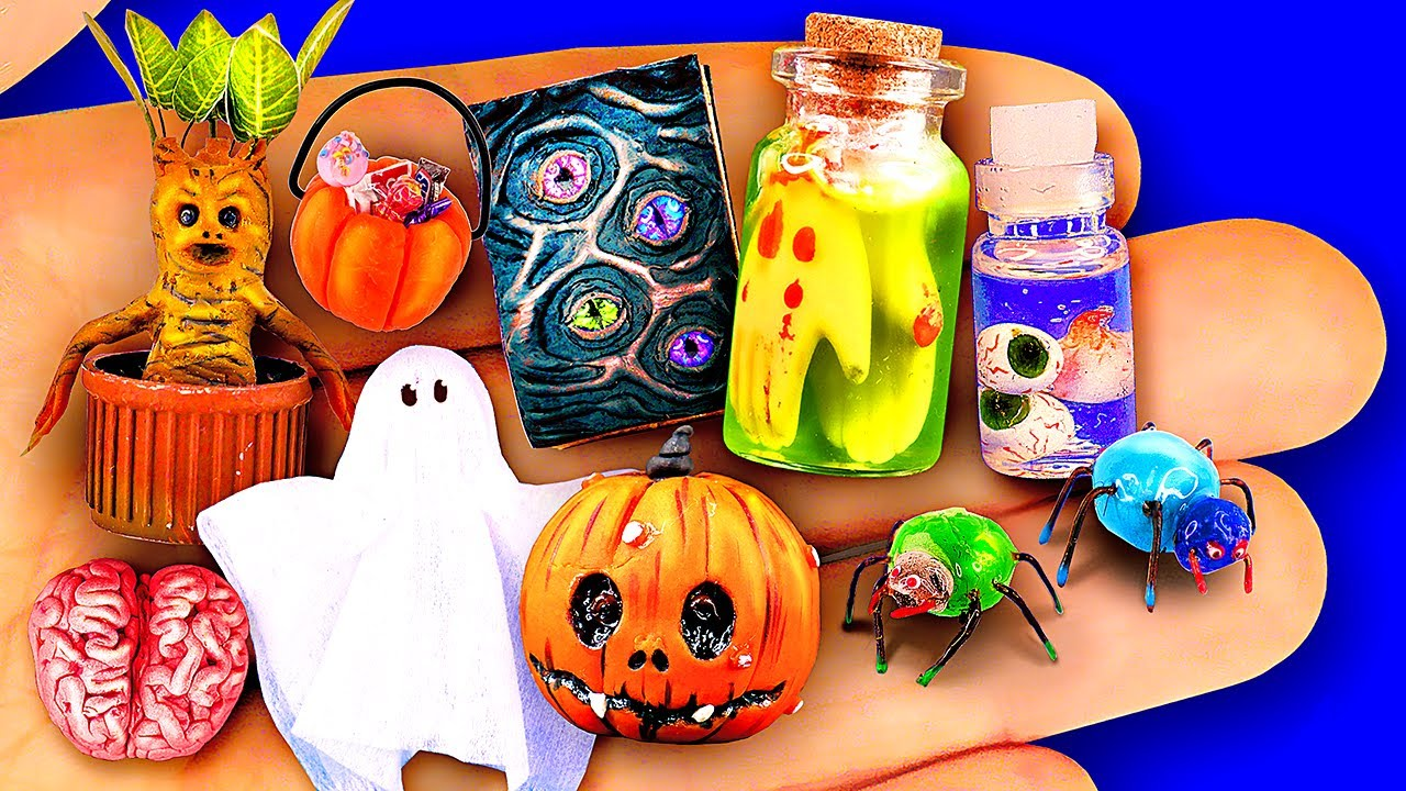 DIY Halloween Miniatures Barbie Hacks and Crafts