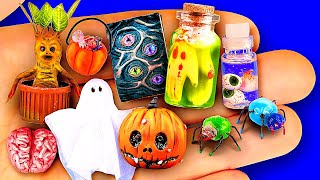DIY Halloween Miniatures Barbie Hacks and Crafts