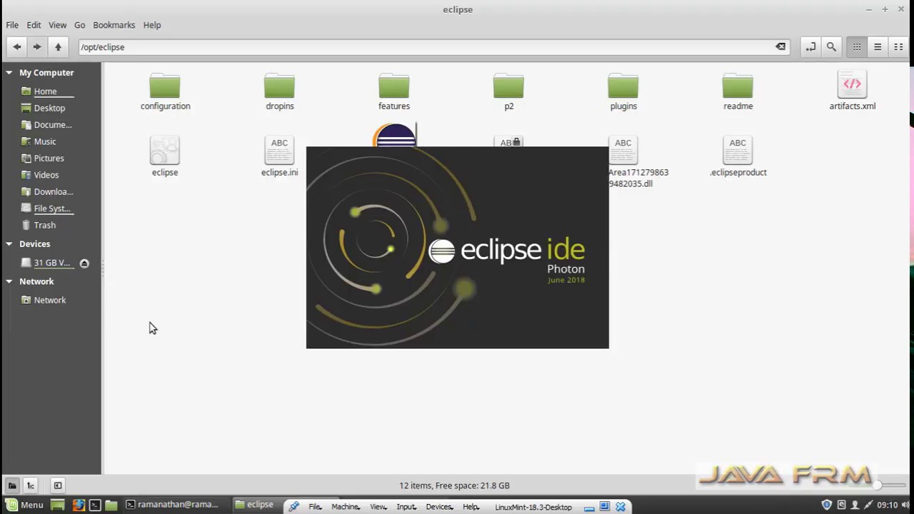 how to install eclipse photon in ubuntu 18.04 using terminal