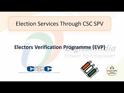 Electors Verification Programme (EVP) Through CSC - Voter ID Service from YouTube · Duration:  5 minutes 52 seconds
