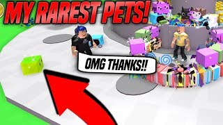 I GAVE This NOOB My *RAREST* PETS In PET SIMULATOR! (Roblox)