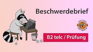 Beschwerdebrief schreiben | Schriftliche Prüfung B2 telc