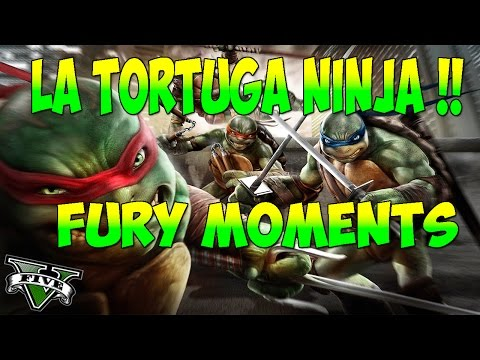 LA TORTUGA NINJA !! Fury Moments GTA 5 Online C / Suscriptores