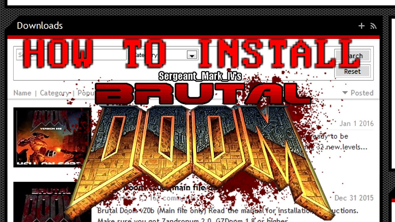 A Crash Course on Brutal DOOM & ZDL: A Tutorial