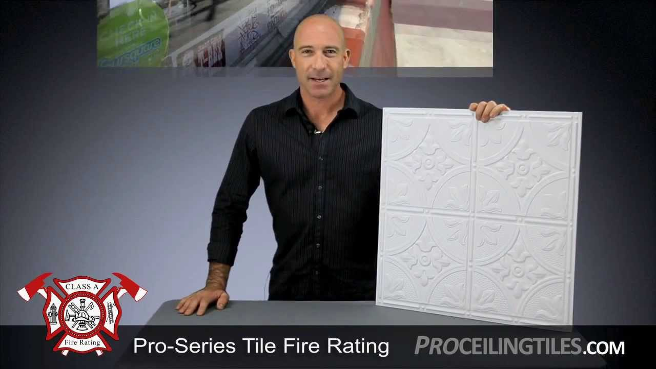 Proseries ceiling tile fire rating youtube proseries ceiling tile fire rating dailygadgetfo Gallery