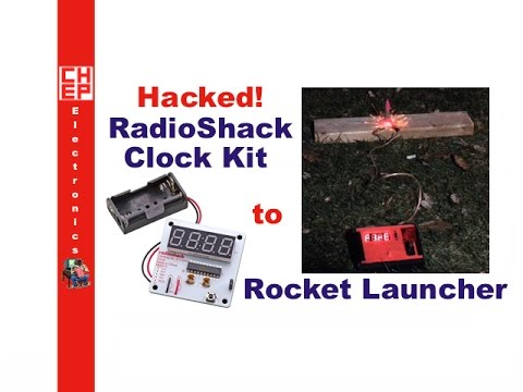 Electronic Radioshack Clock Kit Hacked To Make A Rocket Launcher