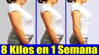 Como bajar de peso 8 kilos en solo 1 semana Rapido y Efectivo para tu ocasión especial