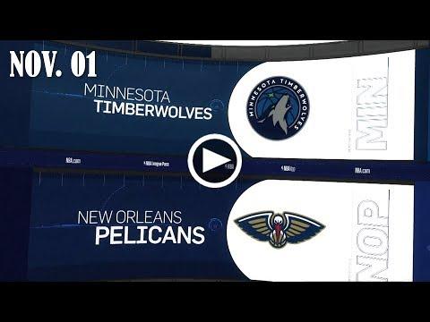 2017.11.01 NBA DAILY RECAP : MIN @ NOP
