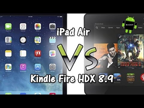 iPad Air vs Kindle Fire HDX 8.9 (Comparison)