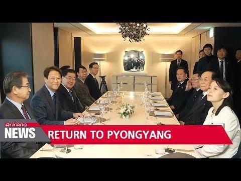 N. Korea's high-level delegation returns to Pyongyang on Sunday