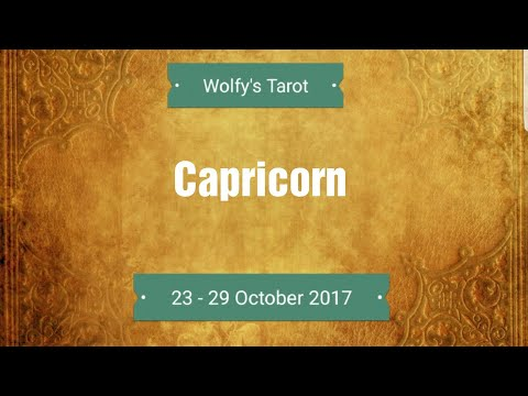 Capricorn -Passion you have been waiting for! 23 - 29 October General Reading