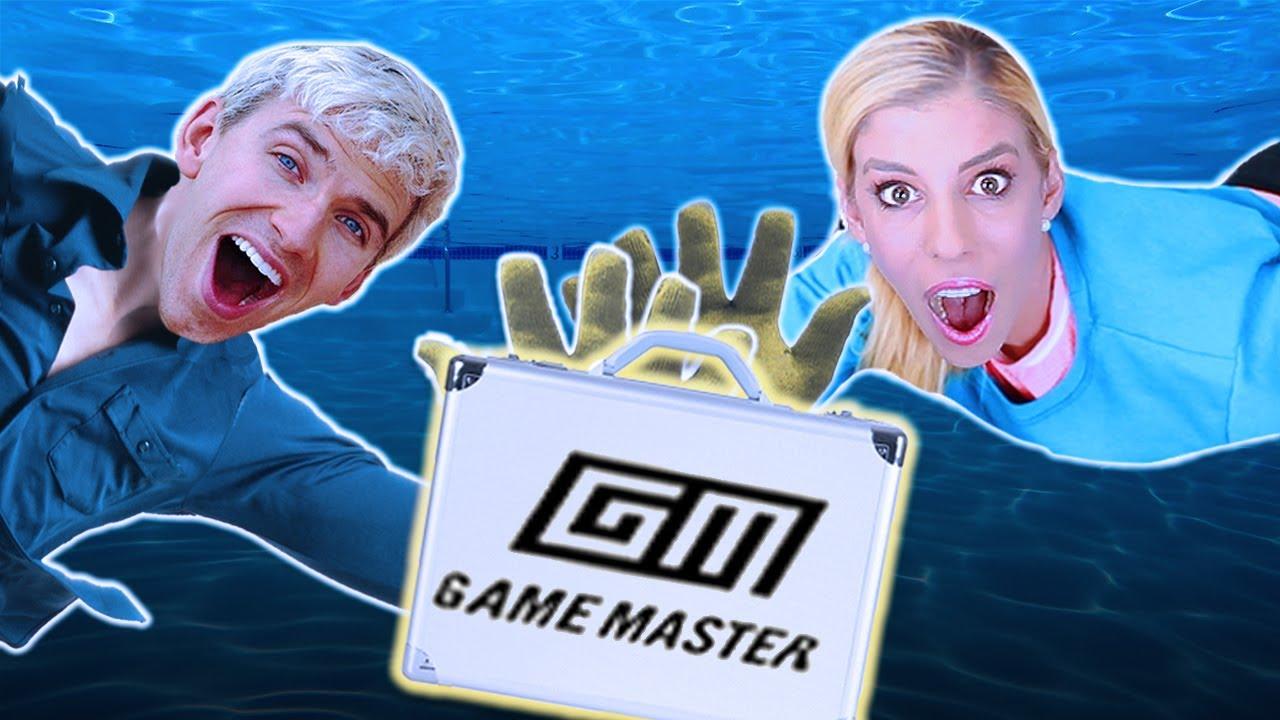 Rebecca Zamolo vs Stephen Sharer Battle Royale for Game Master Box! (Found hidden clues in Backyard)