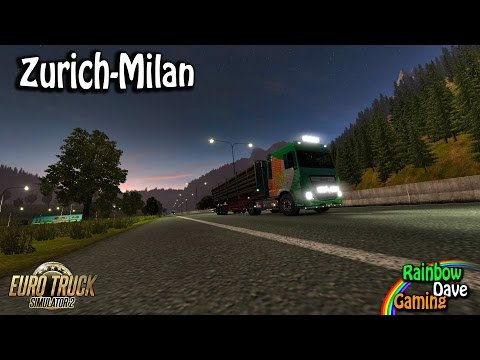 Euro Truck Simulator 2 | Episode 9  | Zurich (CH) - Milan (IT)