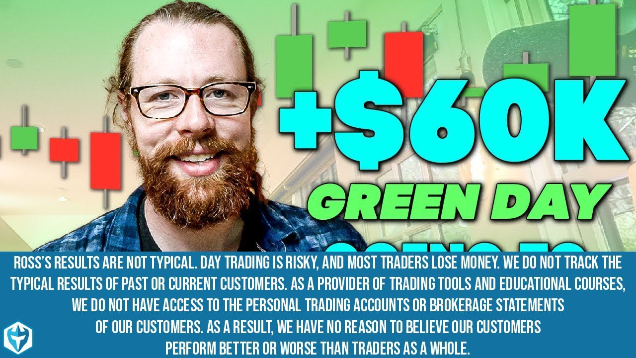 +$60k Green Day Going to Charity! | Recap by Ross Cameron