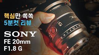 소니 FE 20mm F1.8 G 렌즈를 줌렌즈처럼 쓰는…