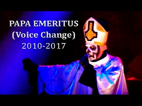 "Papa Emeritus - Voice Comparation ""2010-2017"".(HD)"