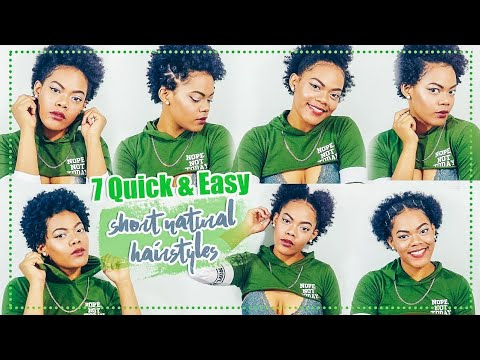 7 Quick & Easy Hairstyles For Short Natural Hair | Type 4 Hair TWA Styles |Krissyslifestyle