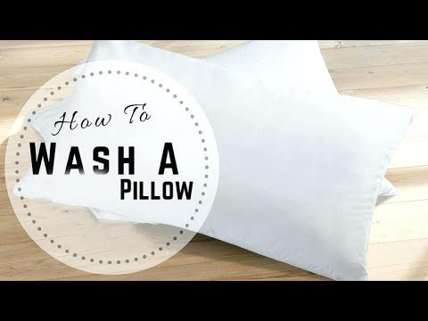"How to wash pillows at home ""useful tips and tricks for home"""