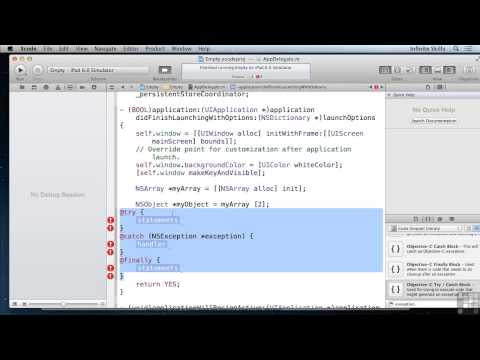 Objective C Programming Tutorial | Using The Try/Catch Paradigm