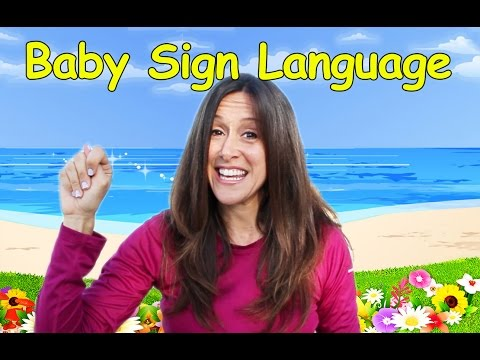 Baby Language Song (ASL) Basic Words and Commands #11 by Patty Shukla