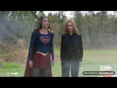 Supergirl 2x21 Supergirl save cat grant scene