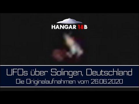 UFOs über Solingen, Deutschland, 26.06.2020 - Die Originalaufnahmen