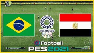 Brasil x Egito (31/07/2021) Olimpiadas de Toquio - PES 2021