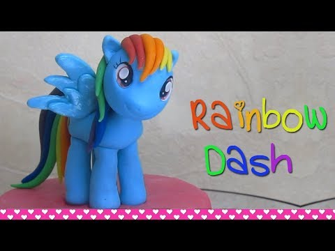 My Little Pony Rainbow Dash Out Of Fondant Cake Topper L Delicious Sparkly Cakes