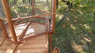 Hexagonal Wooden Handmade Birdcage
