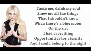 Repeat youtube video The Pretty Reckless - Make Me Wanna Die Lyrics Video