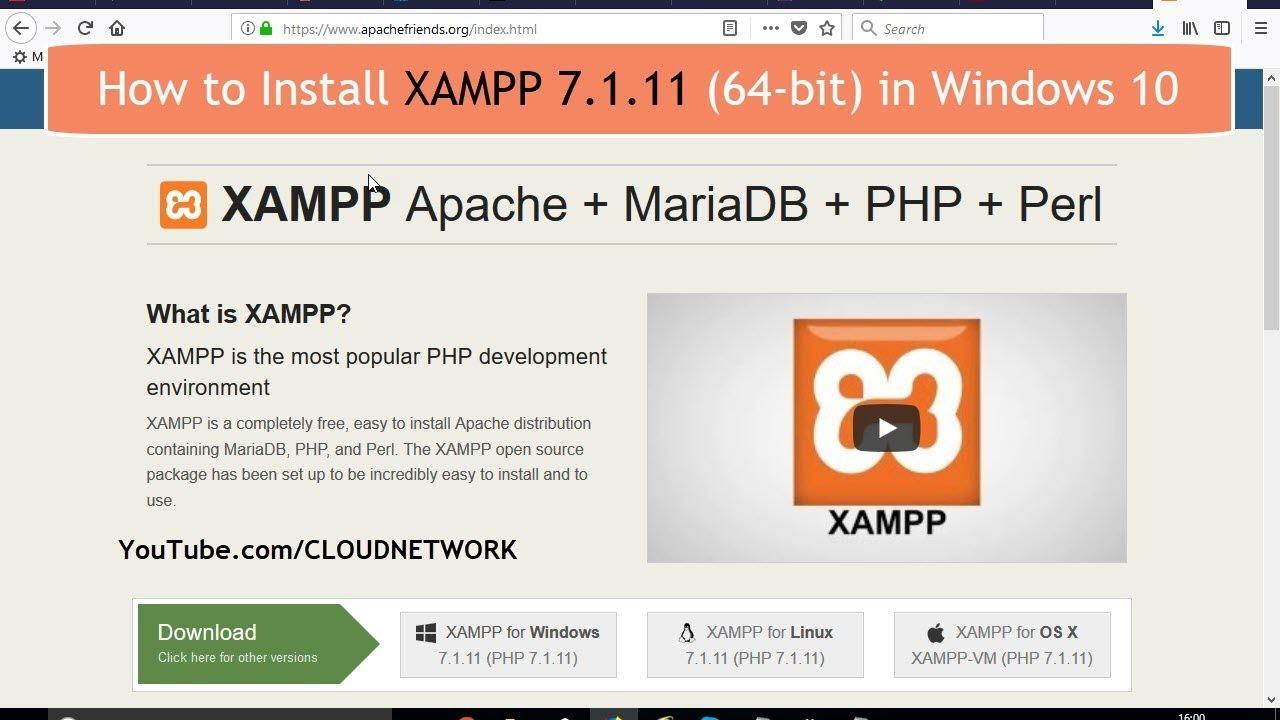 xampp download for windows 10