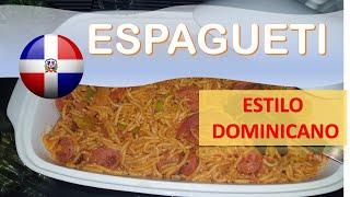 Receta Espagueti con Longaniza Estilo Dominicano