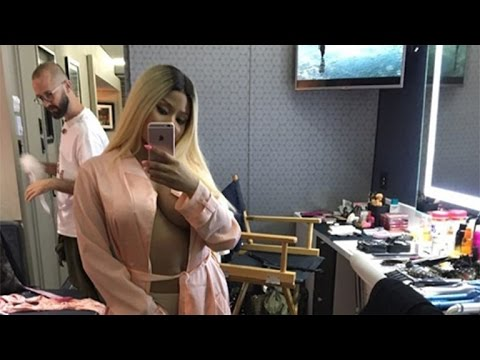 Nicki Minaj Strips Down to Just Undies and a Silk Robe on Instagram