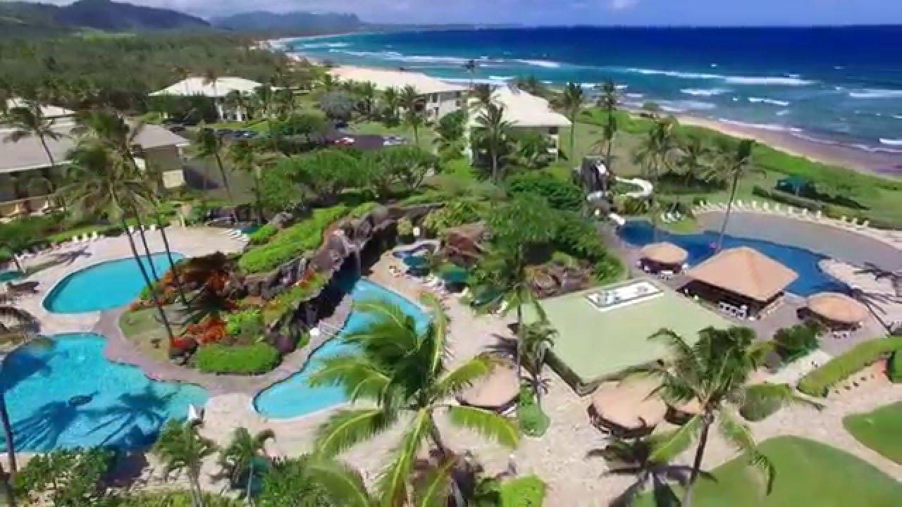 Kauai Beach Resort 4k Aerial