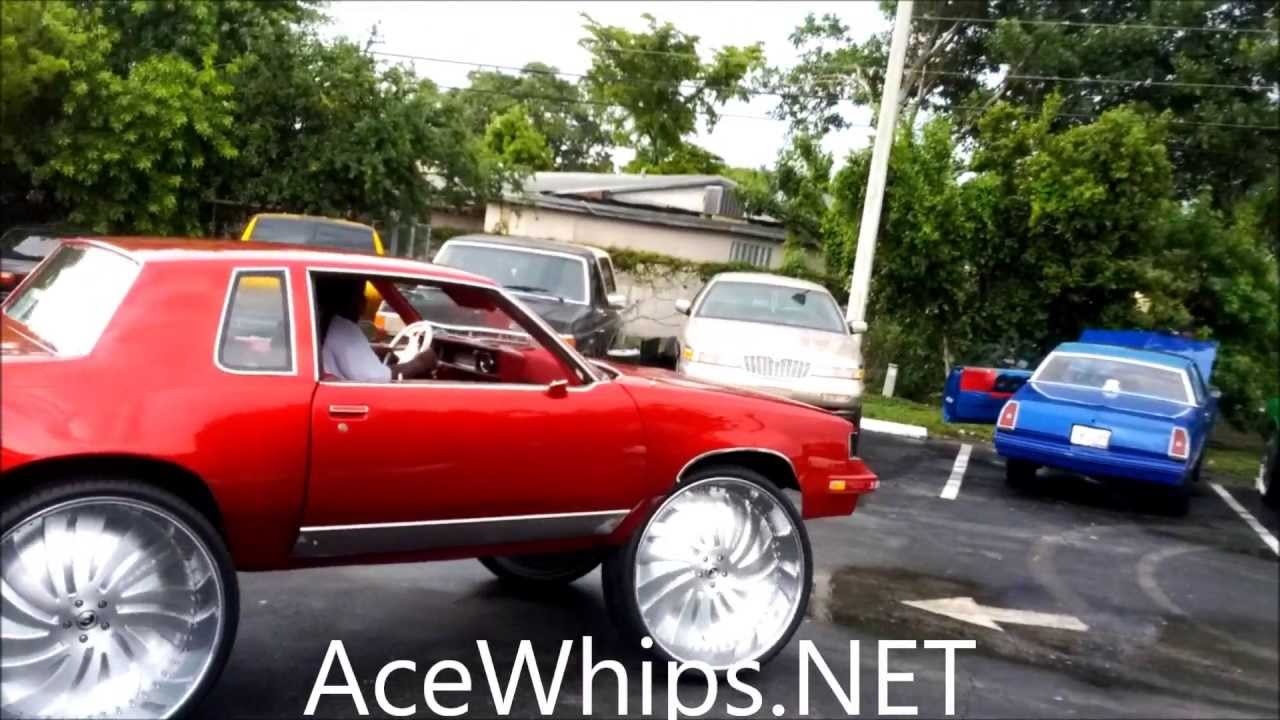 Acewhips Net Candy Red Oldsmobile Cutlass On Brushed 32